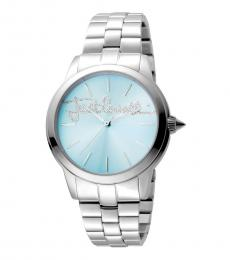 Silver Mohair Logo Watch