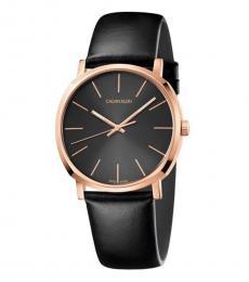 Black Posh Quartz Watch
