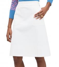 French Cream Twill Pocket Skirt