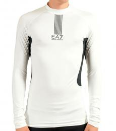 White High Neck Long Sleeve T-Shirt