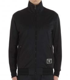 Dolce & Gabbana Black Full Zip Logo Jacket