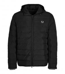 Fred Perry Black Logo Embroidery Quilted Jacket