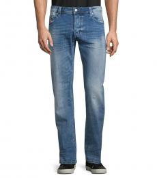 Denim Faded Straight-Fit Jeans