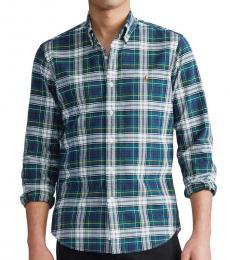 Ralph Lauren Hunter Green Navy Classic-Fit Shirt
