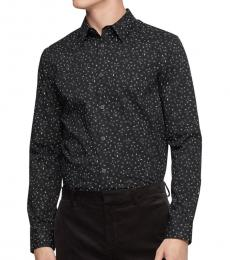 Black Paisley Dot Button-Down Shirt
