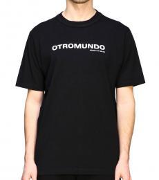 Black Otromundo Print T-Shirt