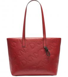 DKNY Red Jude Large Tote