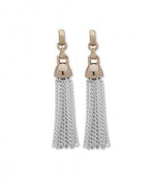 Silver-Gold Fringe Earrings