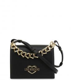 Love Moschino Black Chain Small Crossbody