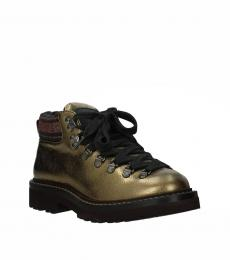 Gold Front Logo Boots