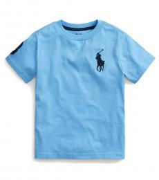 Ralph Lauren Little Boys Blue Lagoon Big Pony T-Shirt
