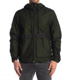 Diesel Olive Hisami Windbreaker Jacket