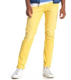 Yellow Adrien Slim Straight Jeans