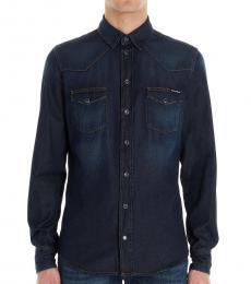 Dolce & Gabbana Dark Blue Nevada Denim Shirt