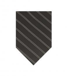 Calvin Klein Black Stripe Pattern Tie