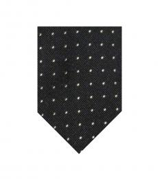 Ralph Lauren Black Small Polka Dot Tie