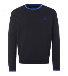 Fred Perry Black Contrast Logo Sweater