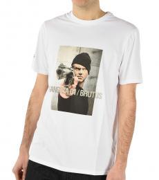 Neil Barrett White Graphic Printed T-Shirt