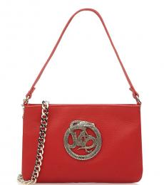 Red Logo Small Shoulder Bag