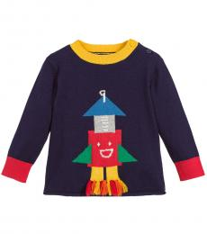 Baby Boys Blue Graphic Sweater