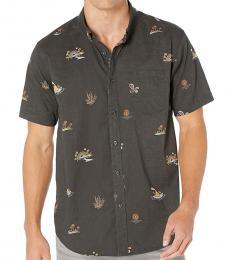 Dark Grey Mini Short Sleeve Shirt