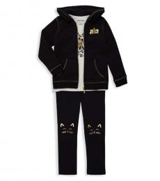 Juicy Couture 3 Piece Hoodie/Top/Pants Set (Little Girls)