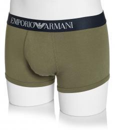 Emporio Armani Olive Logo Stretch Boxer Briefs