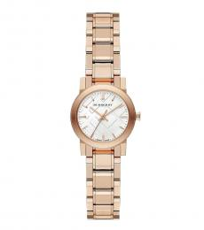 Rose Gold White Dial Watch