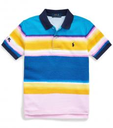 Ralph Lauren Little Boys Carmel Pink Striped Polo