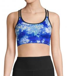 Lime Volt Tie-Dyed Logo Sports Bra