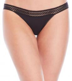 DKNY Black Lace Trim Classic Panty