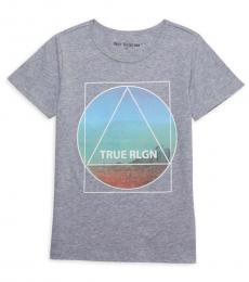 Girls Grey Graphic T-Shirt