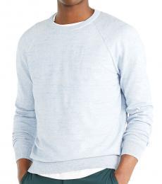 Sky Blue Slim Textured Sweater