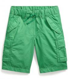 Ralph Lauren Little Boys Lifeboat Green Ripstop Cargo Shorts