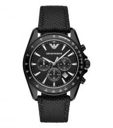 Emporio Armani Black Chronograph Watch