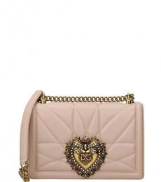 Dolce & Gabbana Powder Pink Devotion Small Shoulder Bag