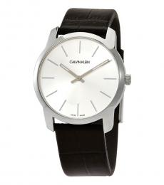 Calvin Klein Black Extension Silver Dial Watch
