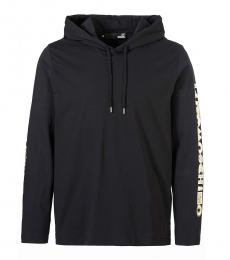 Love Moschino Black Sleeve Logo Hoodie