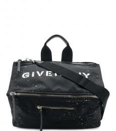 Givenchy Black Logo Large Duffle Bag