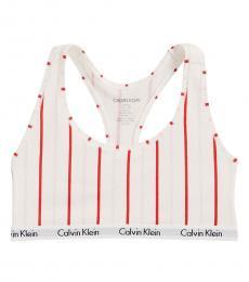 Calvin Klein White Graphic Bralette