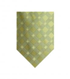 Michael Kors White Yellow Check Slim Tie