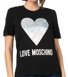 Love Moschino Black Logo Detail Tee