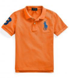 Ralph Lauren Boys Fiesta Orange Classic Fit Polo
