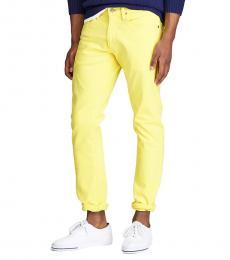 Ralph Lauren Yellow Varick Slim Straight Jean