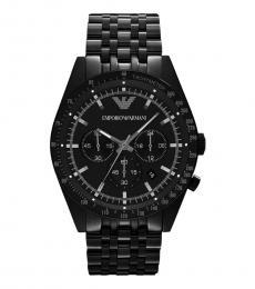 Emporio Armani Black Chronograph Movement Watch