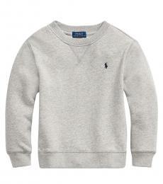 Ralph Lauren Little Boys Avery Heather Cotton-Blend-Fleece Sweatshirt