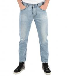 Light Blue Distressed Mharky Jeans