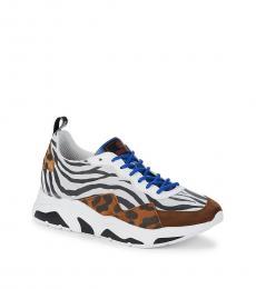 Roberto Cavalli Leopard Print Sporty Sneakers