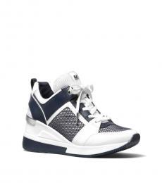 Michael Kors White Navy Georgie Sneakers