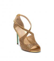 Betsey Johnson Gold Bayli Metallic Heels